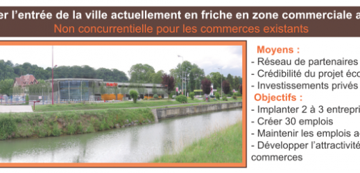 Projet de la zone commerciale à L'Isle-sur-le-Doubs